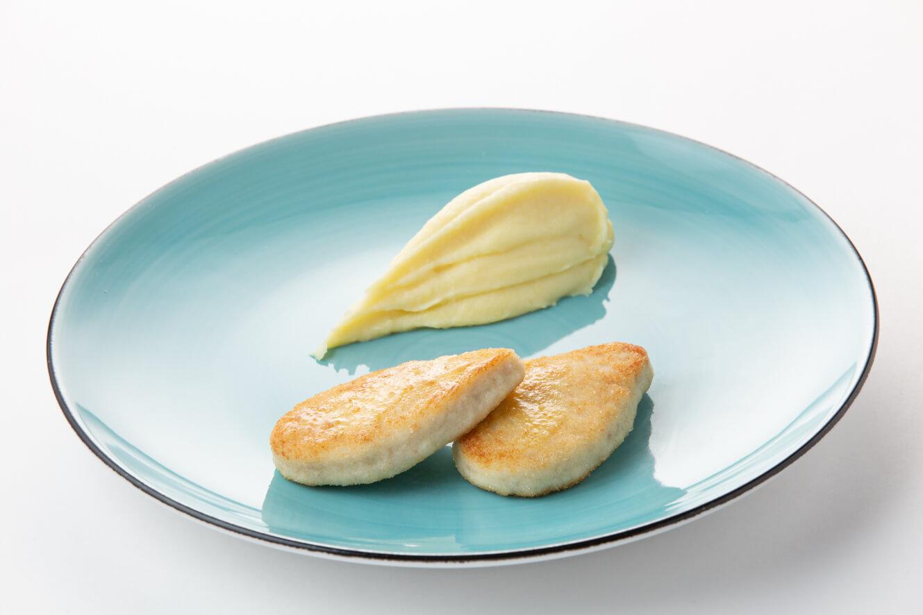 Котлетки из щуки с картофельным пюре